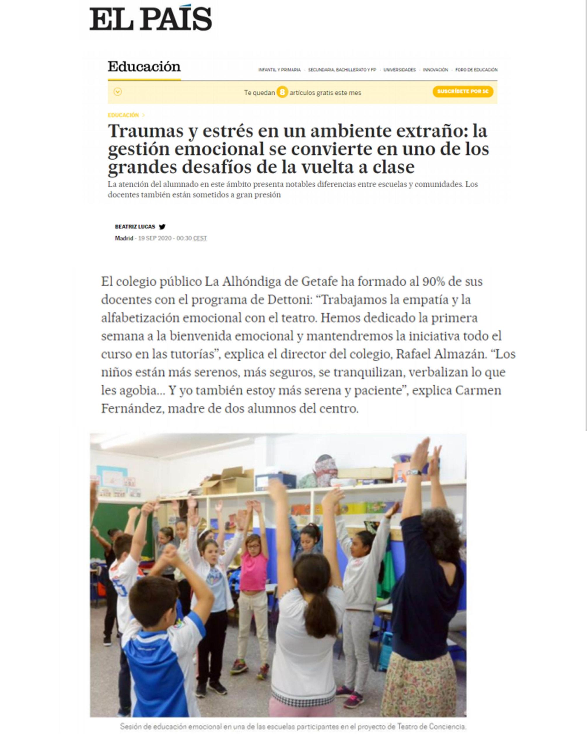 Imagen En Sus Zapatos. El País sept. 2020
